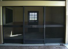 This new stall is featuring the extremely sturdy cross-hatch mesh on top and bottom. This allows for proper ventilation and the view of the complete horse. Stall Doors by Lucas Equine Equipment.