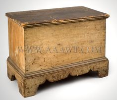antique painted new england blanket chest | Blanket Chest, Childs, Original Paint, Circa 1800