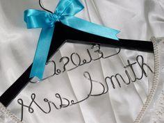 2 lines - Personalized wedding hanger / bridal hanger / Mother of the bride hanger / wedding favor /  bridesmaids gift