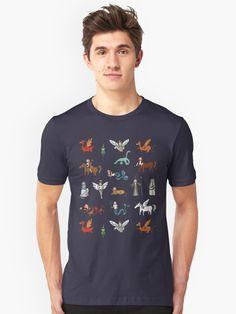 Creatures pattern T-shirt T Shirt, Creatures, Patterns, Mens Tops, Fashion, Supreme T Shirt, Block Prints, Moda, Tee Shirt