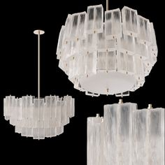 Midcentury Murano Glass Chandelier by Barovier & Toso