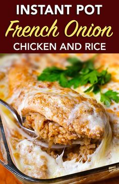 Instant Pot French onion chicken and rice
