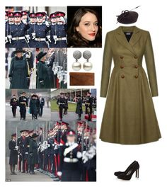 """Attending the Sovereign's Parade at Royal Military Academy Sandhurst, Camberley GU15 4PQ"" by new-generation-1999 ❤ liked on Polyvore featuring Lena Hoschek, Whiteley and Dune"