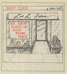 My quilt shop needs to adopt this practice.