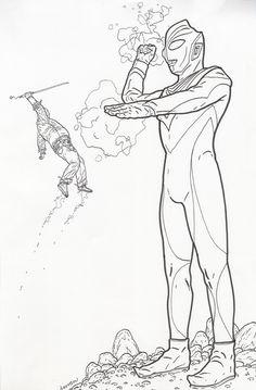 Shaolin Cowboy vs Ultraman by Geof Darrow Comic Art