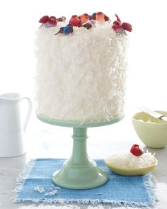 Lemon Curd Coconut Cake: Great recipes and more at http://www.sweetpaulmag.com !! @Sweet Paul Magazine