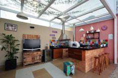 Varanda Gourmet: Terraços  por Cláudia Hypolito Arquitetura & Interiores