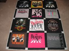 I can make you a unique t-shirt quilt out of your old t-shirts!!!  Great Graduation gifts!!!