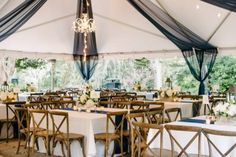 Sweetgrass Social wedding at Legare Waring House. Lauren & Jared. Navy and white reception space.
