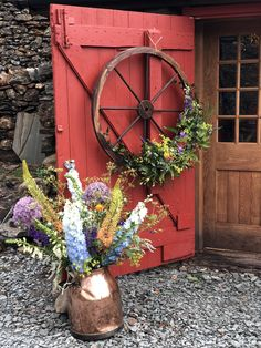 For wedding at Coniston Copper Mines Copper, Flowers, Wedding, Valentines Day Weddings, Brass, Weddings, Royal Icing Flowers, Flower, Marriage