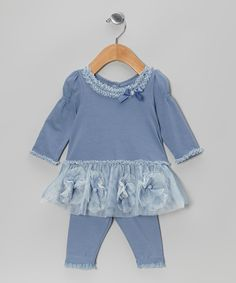 Take a look at this Blue Bloom Top & Leggings - Infant on zulily today!