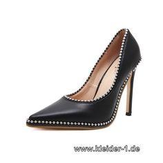 Damen Pumps in Schwarz mit Perlen
