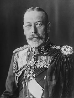 The Royal Collection: Portrait photograph of King George V (1865-1936) wearing a British Army uniform with tartan, c