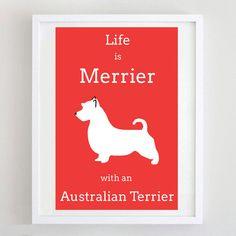 Australian Terrier Print  Dog Art  Dog Poster  by ForeverFoxed, £18.50