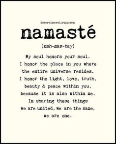 namasté #Frase