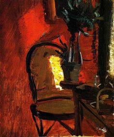 Interior with Chair and Plant Anna Ancher