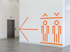 Wafinding system, iconography and supergraphics designed by dn&co. for commercial space and tech hub Here East