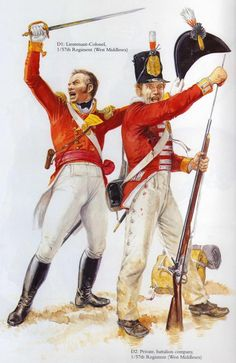 1/57th (West Middlesex) Regiment of Foot (The Diehards) Lieutenant-Colonel and Private. Battle of Albuera 16 May 1811