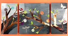 Mixed- media collage tritychs- - Visual Arts teacher Jana DeSimone shares her lesson ideas and the art of her students.