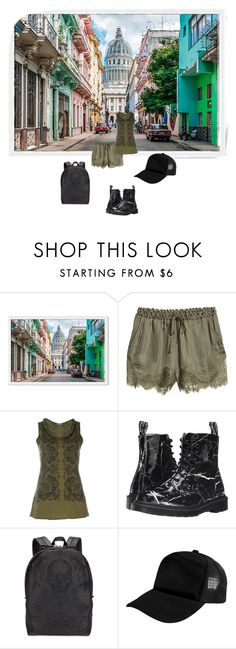 """""""tourist"""" by art-gives-me-life ❤ liked on Polyvore featuring H&M, Alexander McQueen, Dr. Martens and Zodaca"""