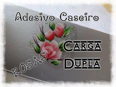 Fazendo adesivo caseiro - Rosa Carga Dupla