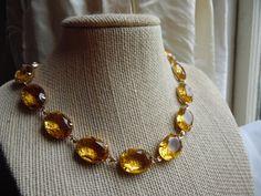 SALE Anna Wintour necklace georgian collet citrine by SacredCake