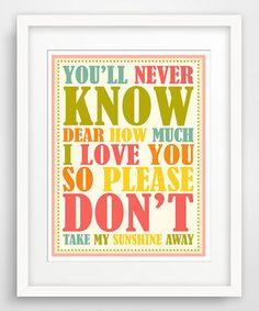 Look what I found on #zulily! 'You'll Never Know Dear' Giclée Print by Finny and Zook #zulilyfinds