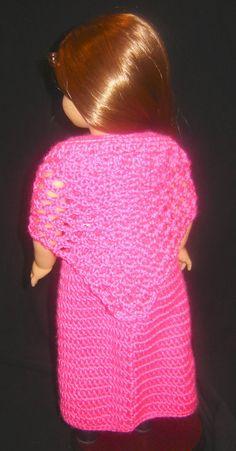 "Bizzy Crochet: Evening Dress w/ Shawl Pattern- 18"" Doll"
