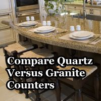 Great source for comparing different types of countertops for kitchen remodel