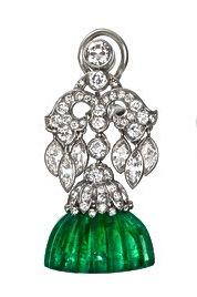 Van Cleef & Arpels Emerald & Diamond Ear Stud