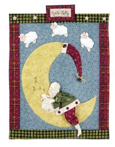 O Natal já chegou na Patch & Afins! Edição Especial de Natal ed. 89. No mundo da lua: um painel com aplicações para as crianças.