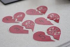Heart number/sticker match up