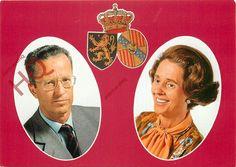 Postcard: BELGIUM ROYAL FAMILY, KONING BOUDEWIJN EN KONINGIN FABIOLA