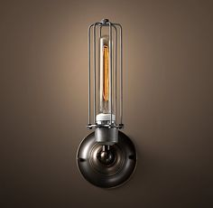 Edison Caged Single Sconce - Gunmetal from restoration hardware.