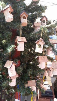 Wine cork bird house ornaments