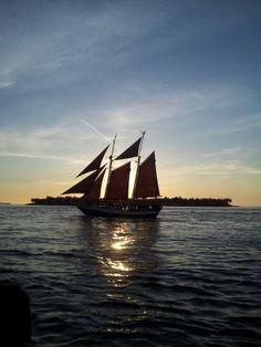Atardecer en Key West. Florida.