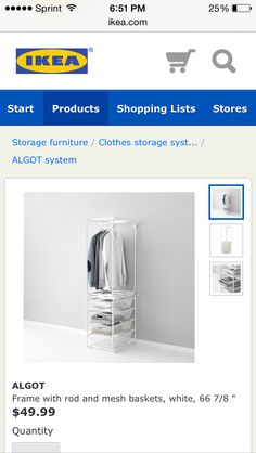 Closet organizer and doesn't take up much space. So totally want!