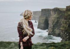 Winter Blonde Braid Hairstyle No-Heat