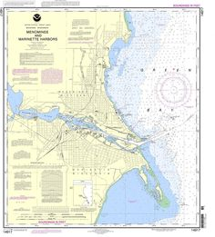 NOAA Nautical Chart 14917: Menominee and Marinette Harbors
