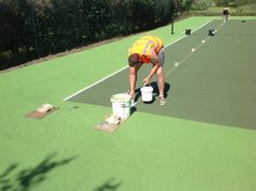 Painting Outdoor Tennis Surface Specialists