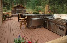 Outdoor kitchen design idea -Home and Garden Design Idea's