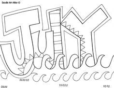 July Coloring Page Kids Classroom Coloring Pages