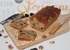 Cake  noix et pruneaux aux flocons d'avoine