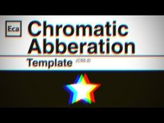 Chromatic Aberration Template - Trailer - YouTube Chromatic Aberration, Diy Art Projects, Op Art, Original Image, Art Techniques, Motion Graphics, Told You So, Templates, Life