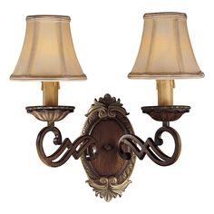 View the Minka Lavery ML 1944 2 Light Candle-Style Wall Sconce from the Belcaro Collection at LightingDirect.com.