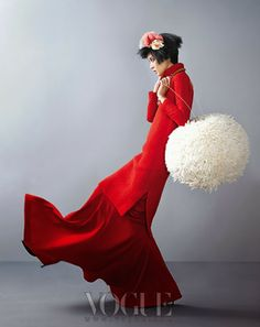 INSPIRATIONAL | Vogue Korea  / Love the giant pompom!