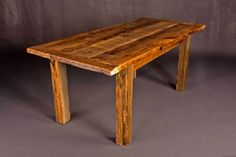 Reclaimed barn wood dining table by HeirloomReclaimed on Etsy, $675.00