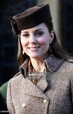 Catherine, Duchess of Cambridge leaves the Christmas Day Service at Sandringham Church on December 25, 2014 in King's Lynn, England.  (Photo by Chris Jackson/Getty Images)