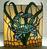 OH WOW! I need this! *urgent* LOL. My two faves...stained glass and blue crab.