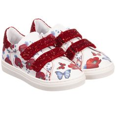 Monnalisa - Girls Faux Leather Trainers | Childrensalon